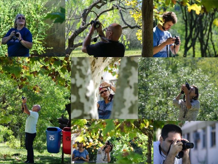 Início do curso, grupo fotografando