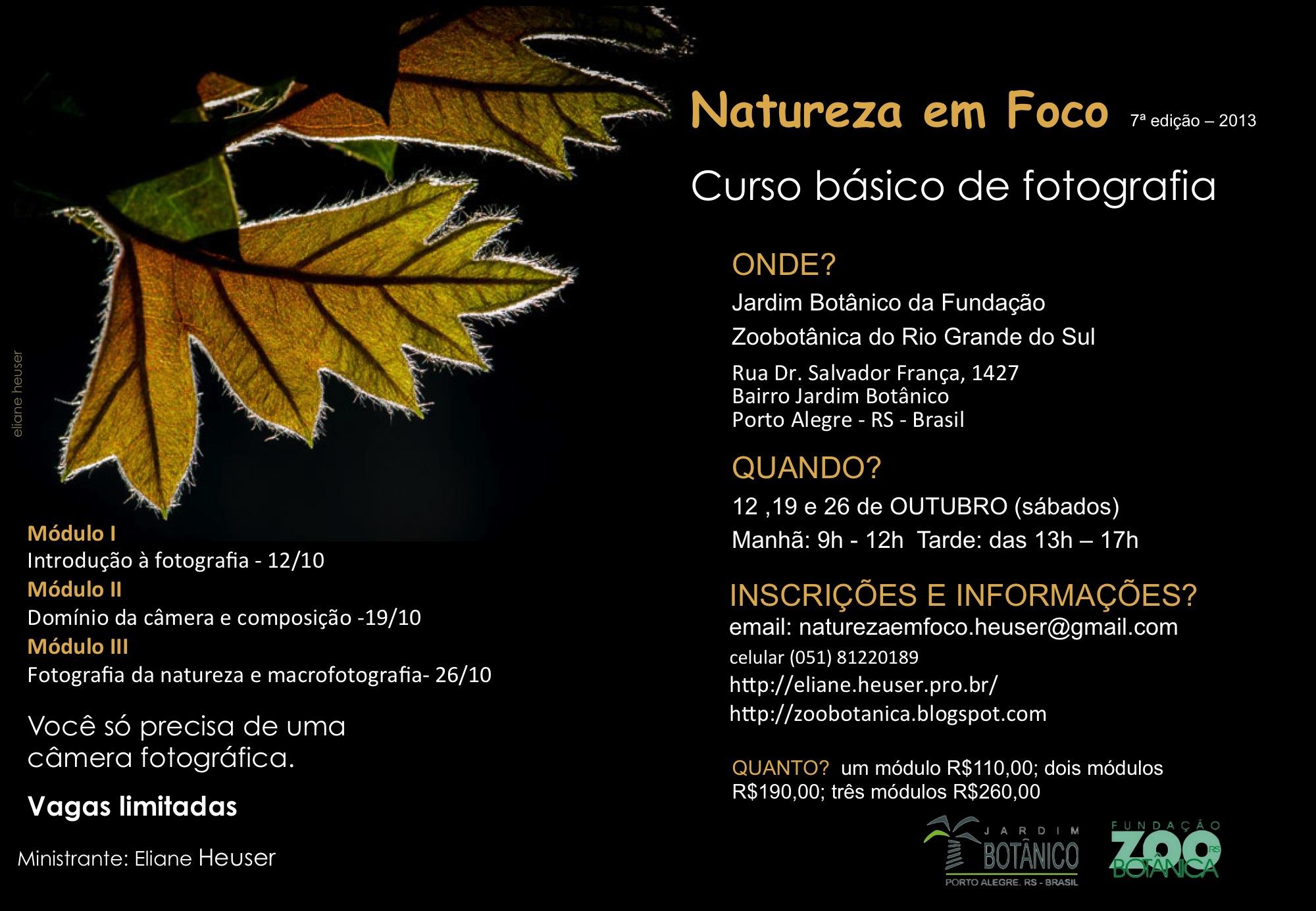 Curso de Fotografia Natureza em Foco 7ª edição