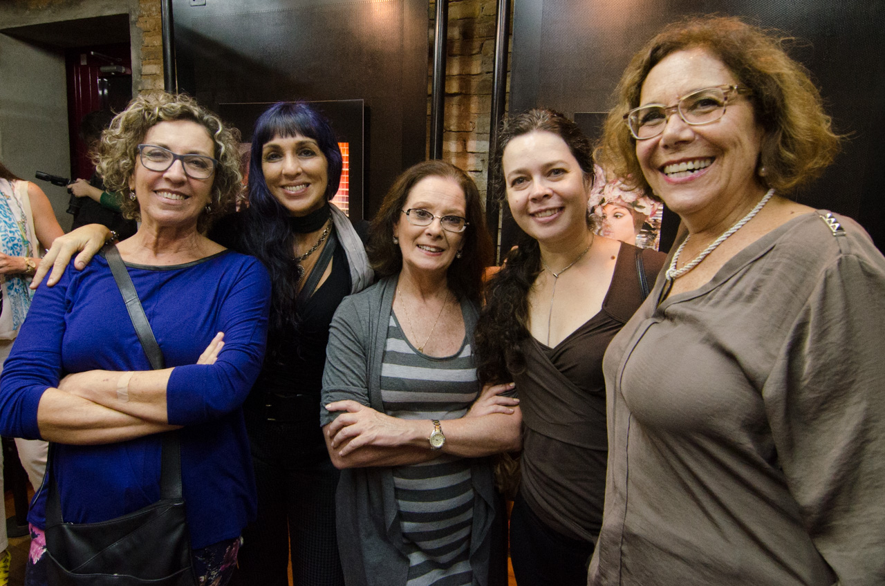 Eneida Serrano, Heloiza Averbuck, Liliana Reid, Isabella Carnevalle e Eliane Heuser